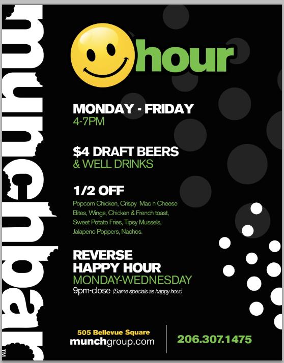 Munchbar Adds Happy Hour Downtown Bellevue Network