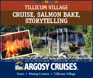 ILLICUM VILLAGE CRUISE, SALMON BAKE, STORYTELLING