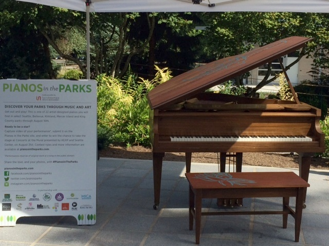 Pianos in the Parks in Downtown Bellevue Remain for a Few More Days