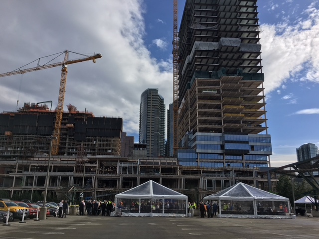 Lincoln Square Tower Expansion Topping Off Ceremony