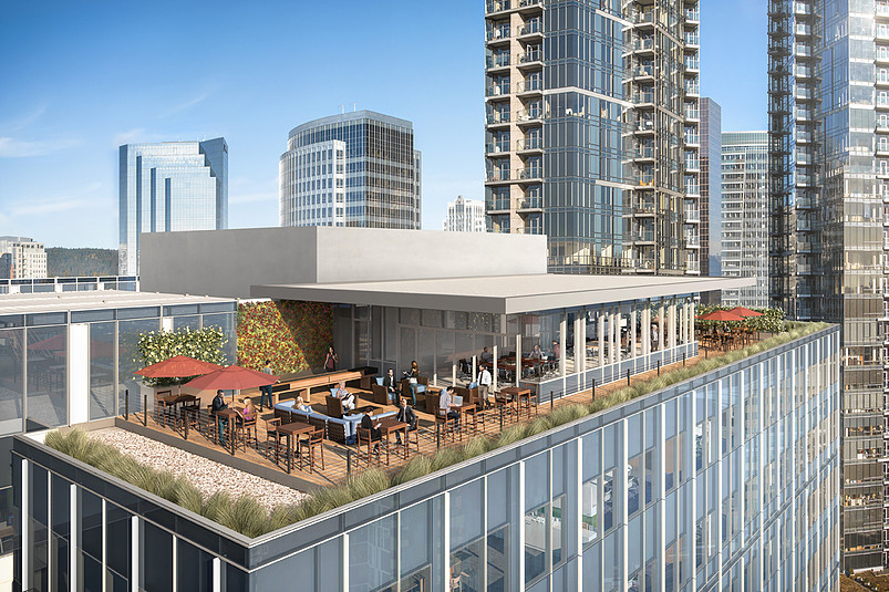 Centre 425 office building to feature rooftop deck for Outdoor office building