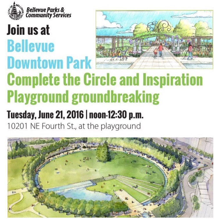 Downtown Bellevue Park Expansion Groundbreaking Event