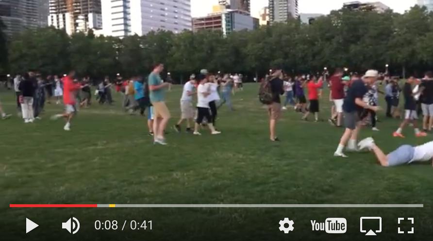 Video of Pokémon Go Players Crowding Bellevue Downtown Park