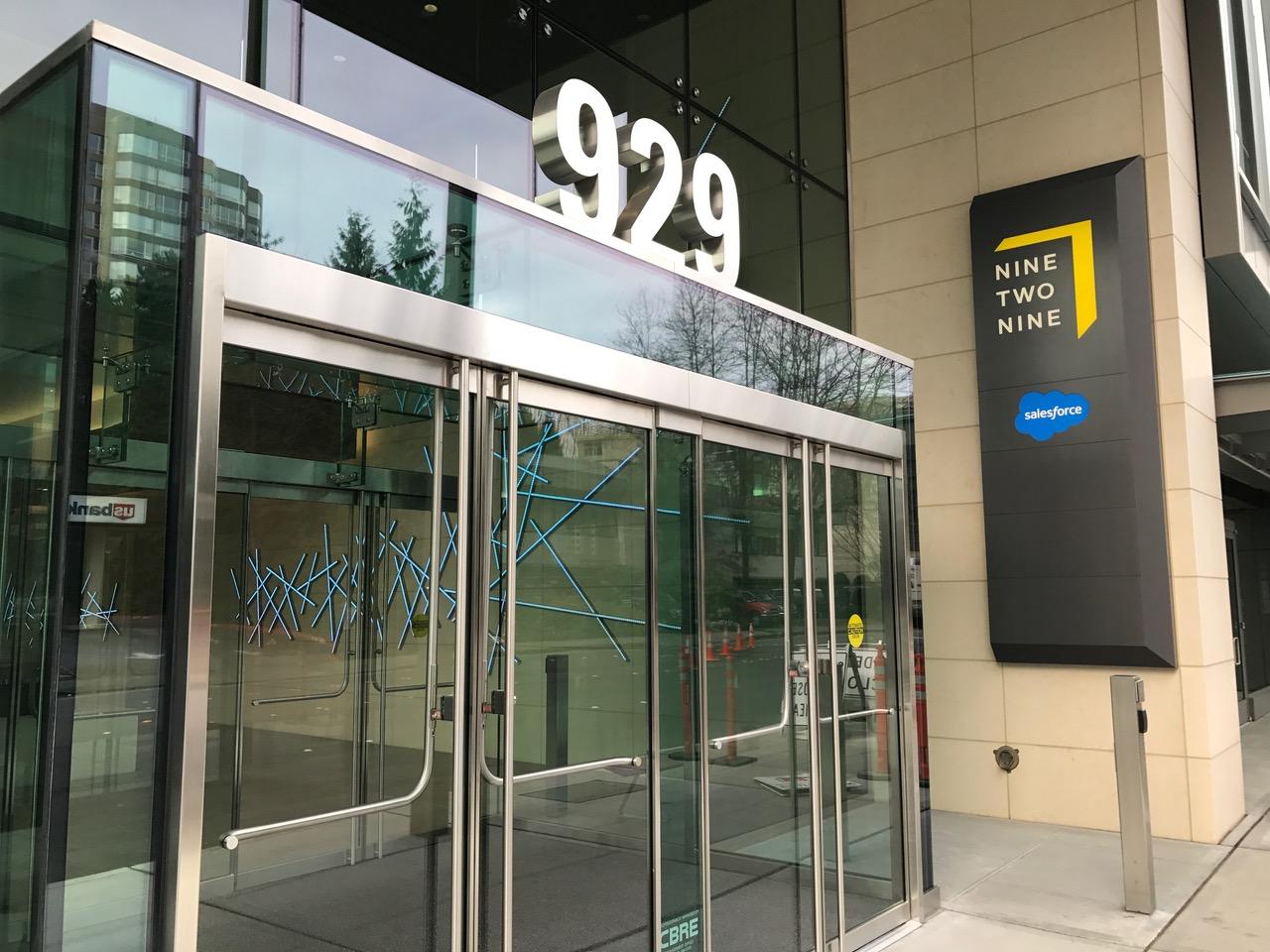 Salesforce Moves Into Bellevue S Nine Two Nine Office