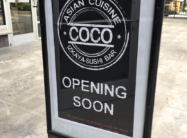New Restaurant, COCO Asian Cuisine to Replace Tap House
