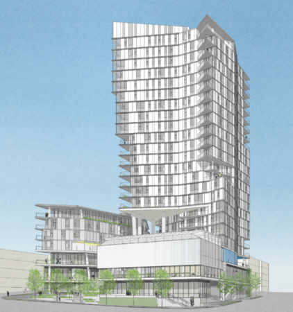 Brio Apartments Mixed-Use Project Under Construction on 112th