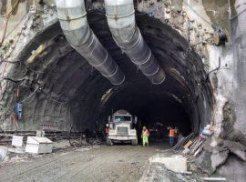 East Link Light Rail Tunnel in Bellevue Nears Completion