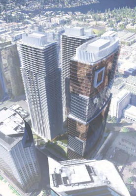 Plans and Renderings Emerge for Three Tower Project at Barnes & Noble Site in Bellevue