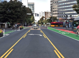 Downtown Bellevue Bike Lanes, Photo Credit: The Urbanist