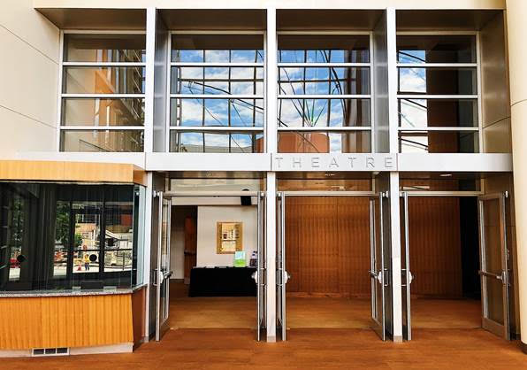 Lobby at Meydenbauer Center Theatre in Bellevue, Photo Credit: Meydenbauer Center Theatre