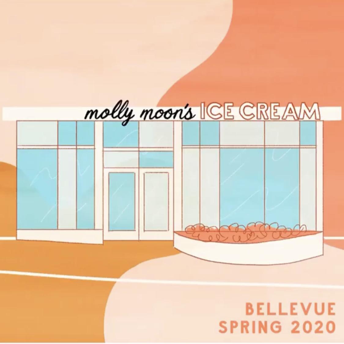 Molly Moon's Rendering of New Bellevue Ice Cream Shop