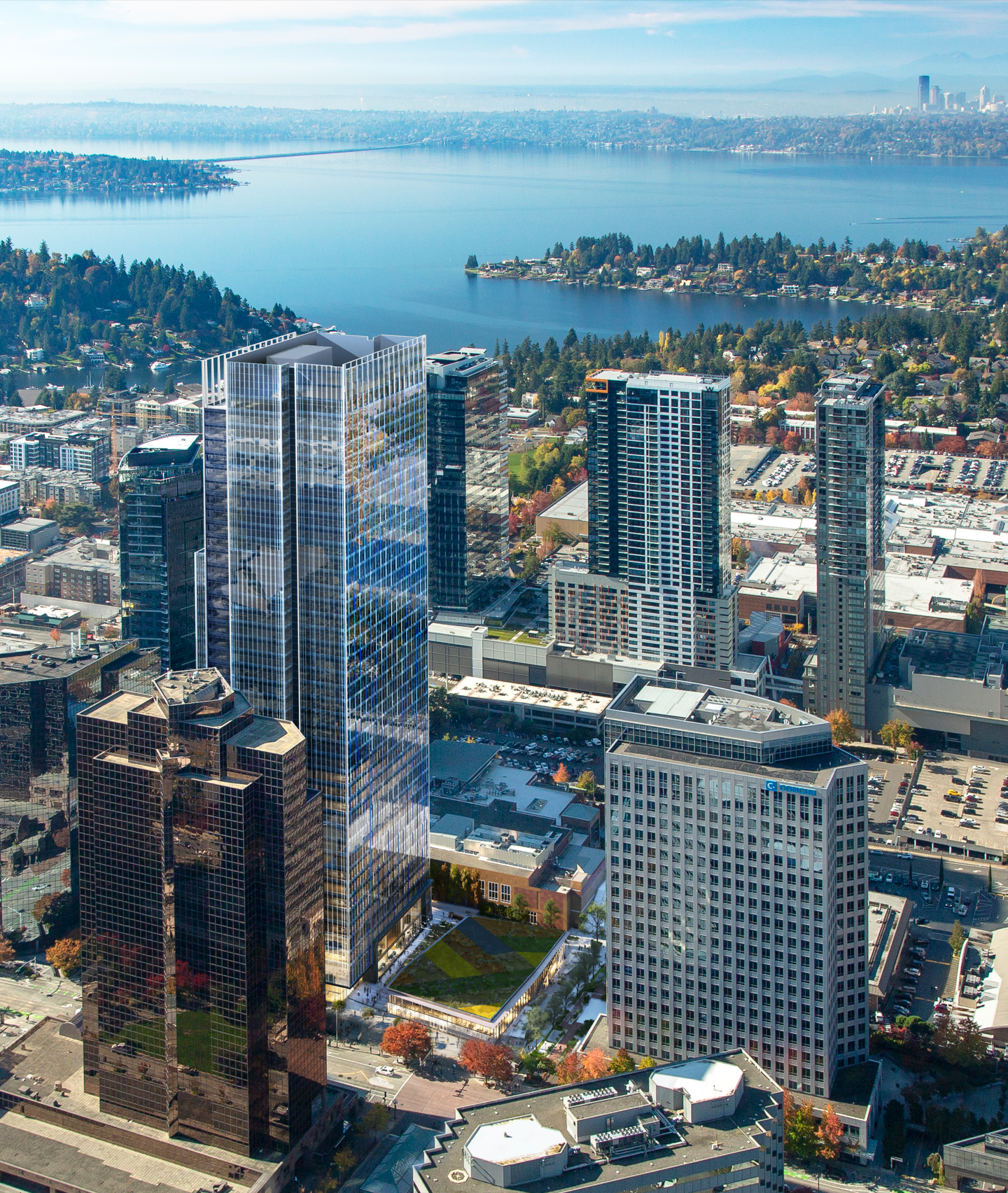Amazon Office Tower in Bellevue